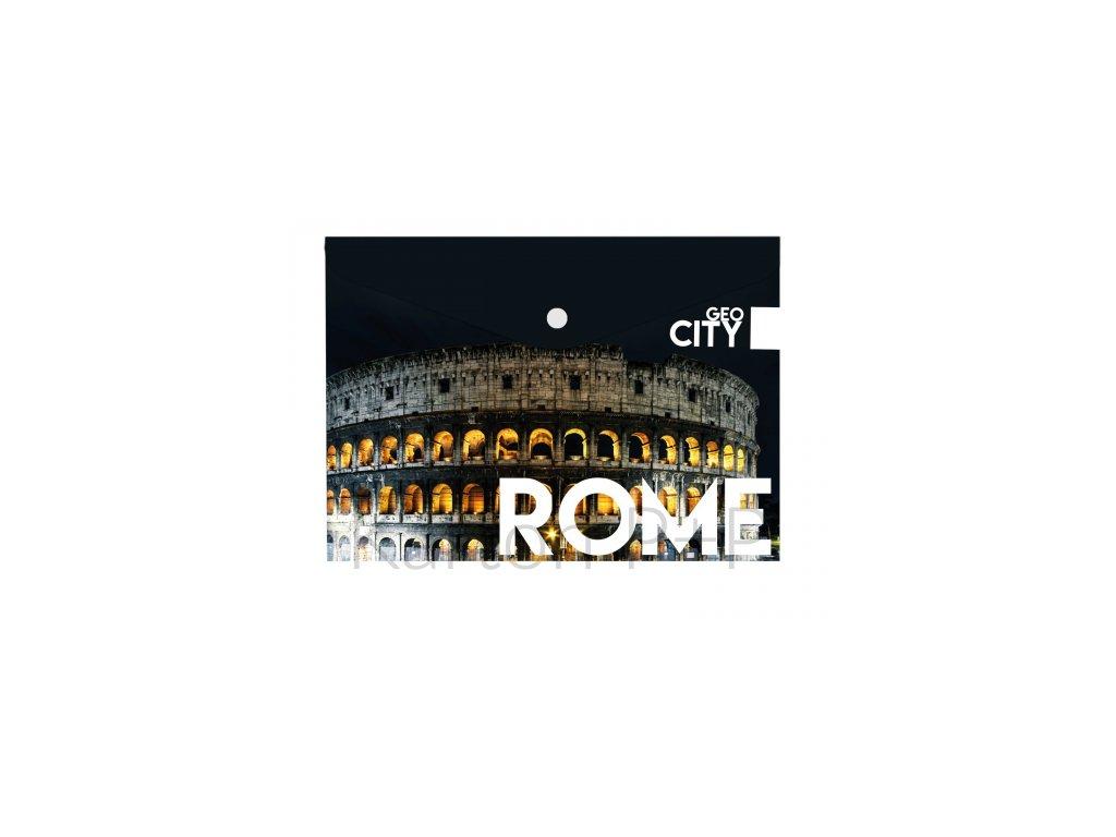 Psaníčko s drukem A4 s tiskem GEO CITY Rome