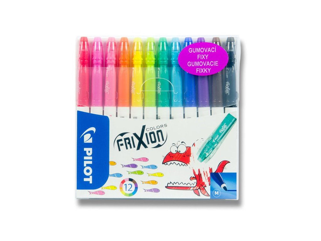 Gumovací fixy FriXion Colors 12 barev