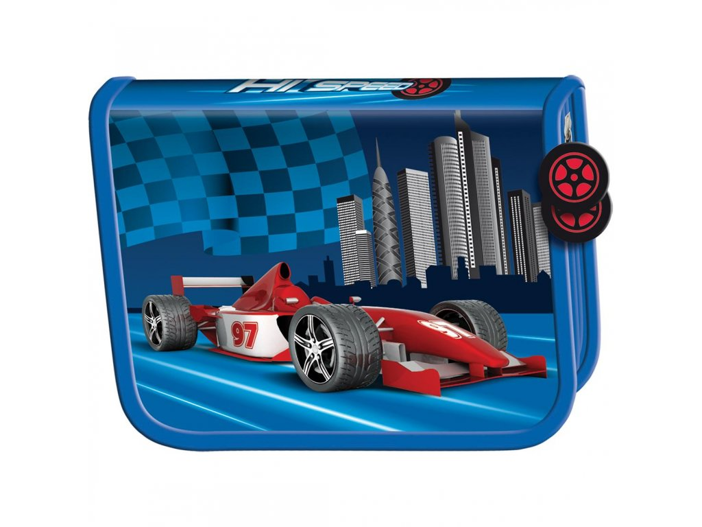 Penál Premium - Racing  1 zip prázdný