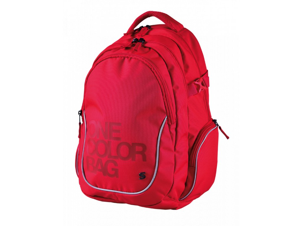1c37ece58aa Studentský batoh Stil - One Colour červený - www.e-prvnacek.cz