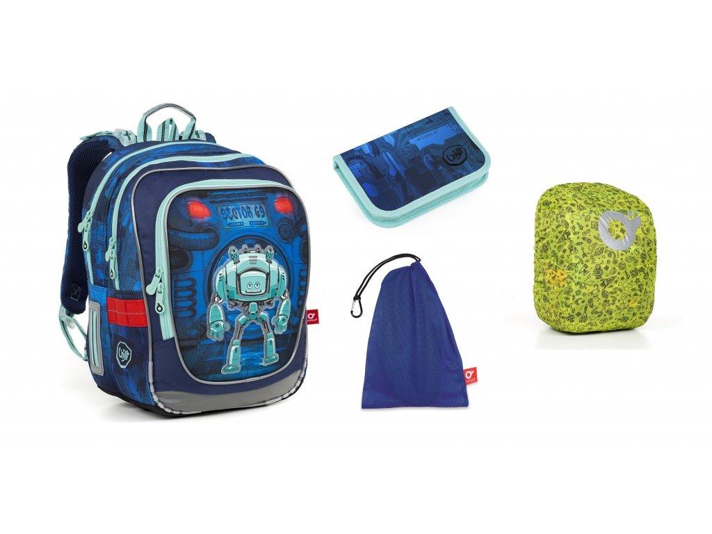Školní batoh pro prvňáčky Topgal - SET LARGE -  ENDY 18047