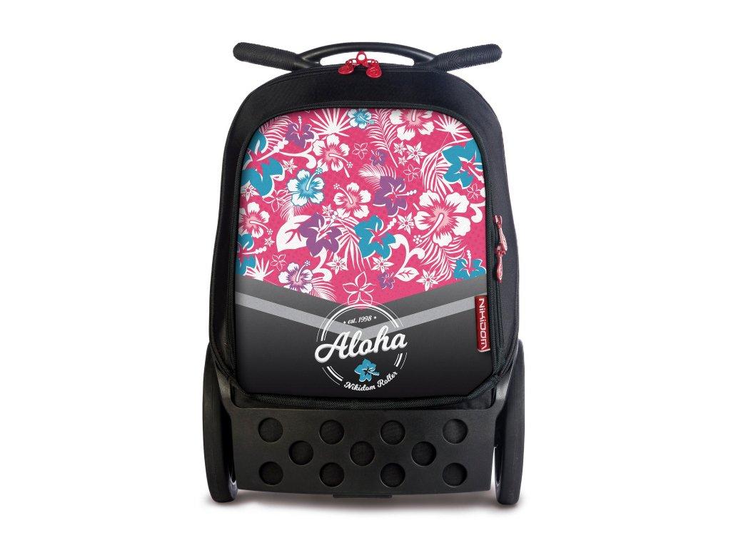 Školní taška na kolečkách Nikidom Roller XL Aloha  + Sportovní vak Nikidom Roller Sportsbag