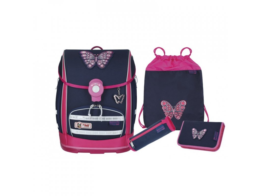 Školní aktovka McNeill set Ergo Explorer Butterfly