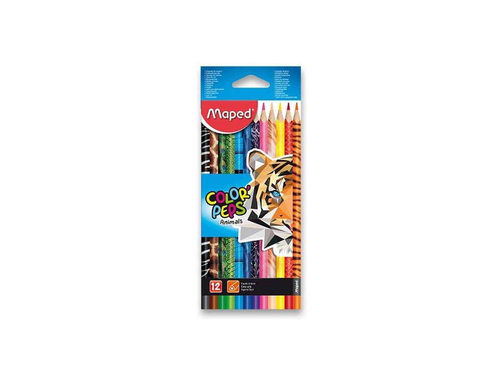 Pastelky Maped Color'Peps zvířátka - 12 barev
