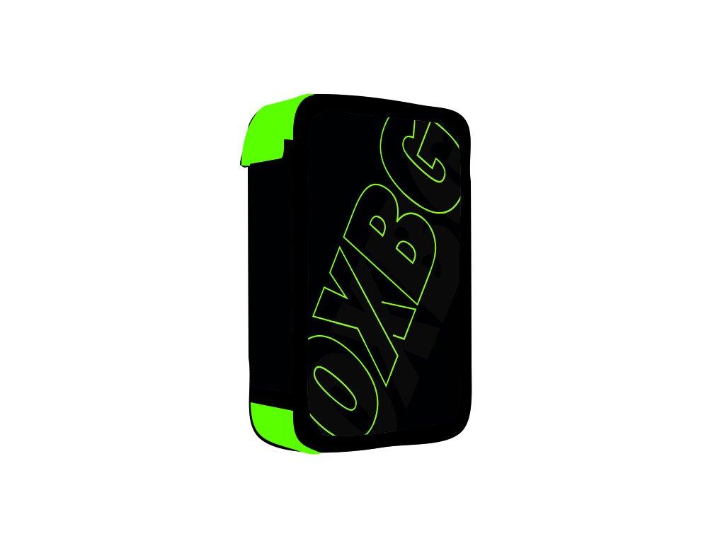 Penál 3 patra prázdný OXY BLACK LINE Green