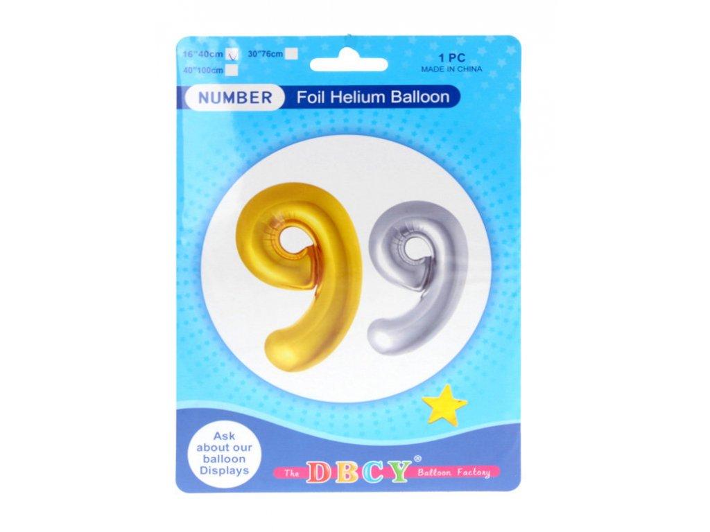 Nafukovací číslo - balonek 9