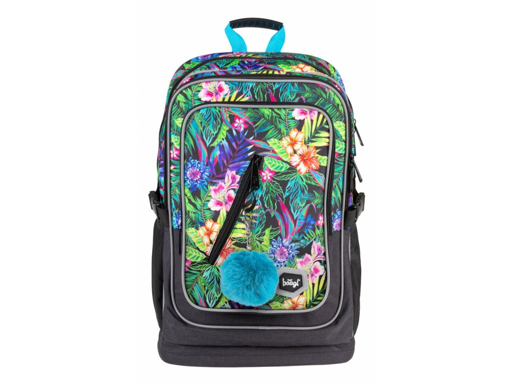 Školní batoh Baagl - Cubic Tropical