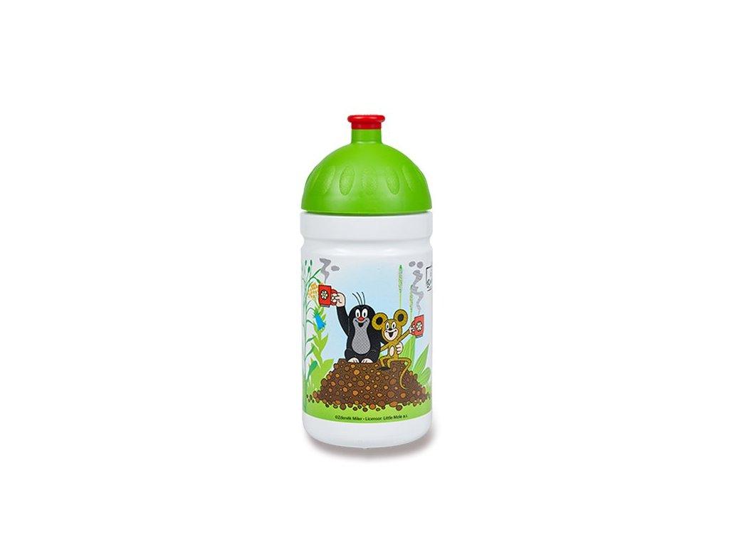 Zdravá lahev 0,5 l - limitovaná edice, Krtek a jahody, zelená
