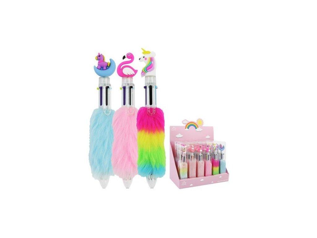 Kuličkové pero vícebarevné Unicorn - Plaměňák