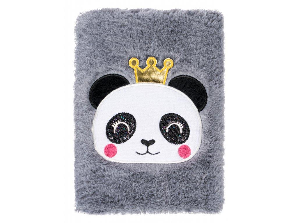 Notes plyšový Panda A5