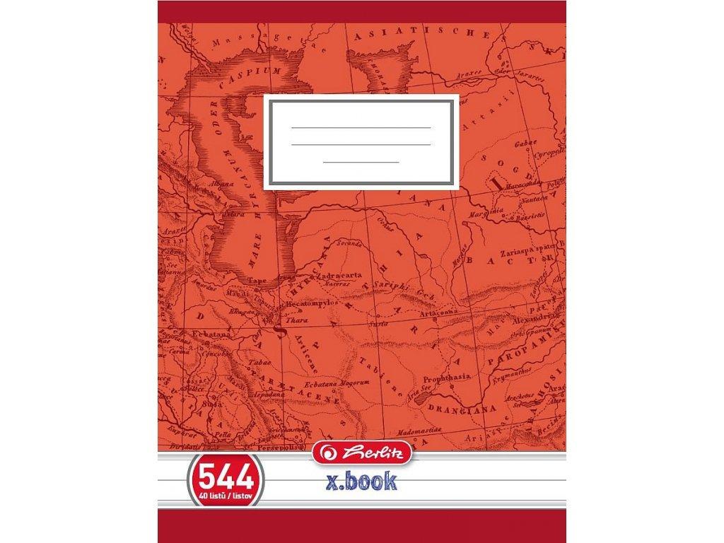 Školní sešit 544 A5/40 listů, linka