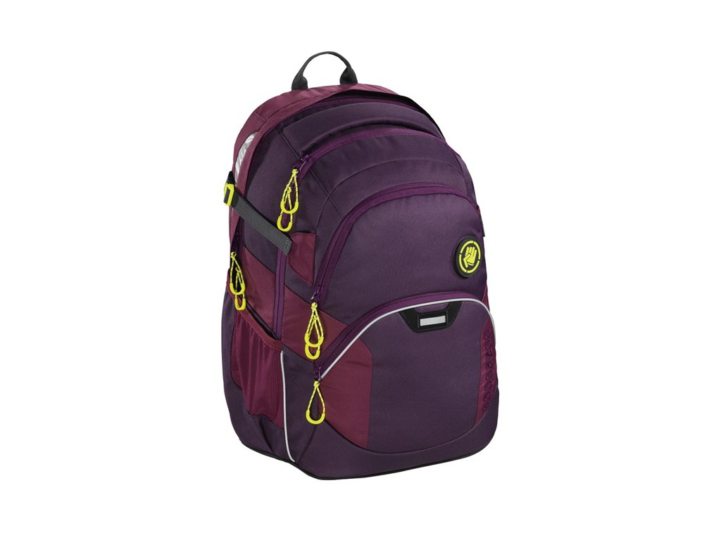 Školní batoh Coocazoo JobJobber2 - Solid Berryman  + sluchátka zdarma