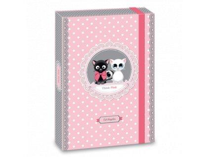 Ars Una Box na sešity Think Pink cats A4