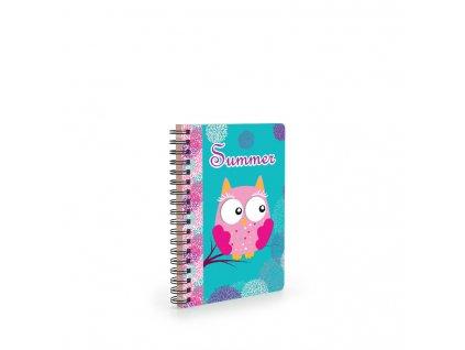 karton pp owl17 girl diaryA6 front