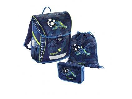 Školní aktovka - 3-dílný set - Baggymax Fabby Fotbal  + dárek - zdravá lahev