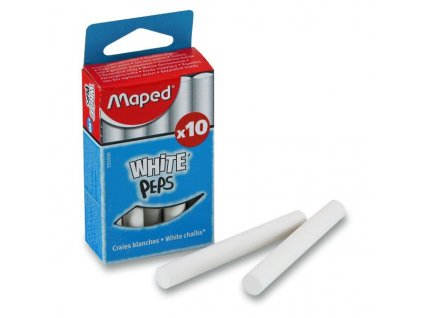 Křídy Maped - bílé, 10 ks