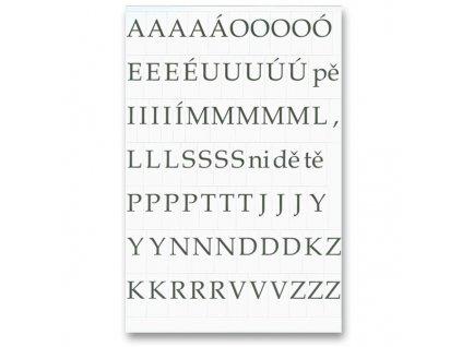 Papírová písmenka - sada tisků ABC