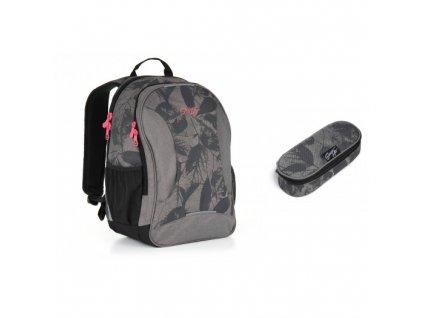 Studentský batoh Topgal HIT 892 C - Grey SET SMALL