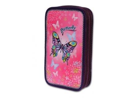 Školní penál 2-patra Butterfly