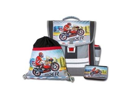 Školní aktovkový set Emipo Rider 3-dílný