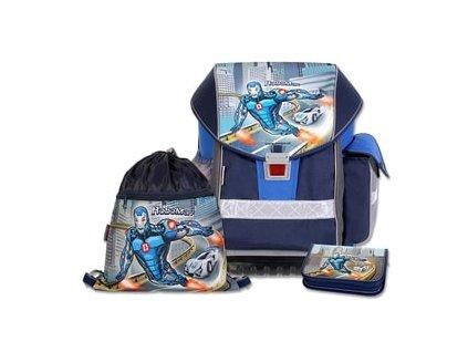 Školní batohový set Emipo ERGO TWO Roboman 3-dílný