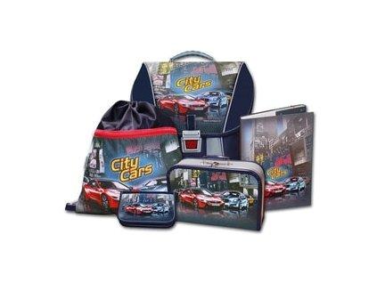 Školní batohový set City Cars 5-dílny