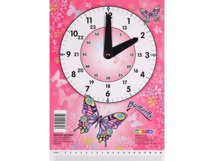 Školní hodiny Butterfly