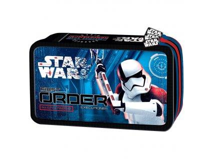 Penál Star Wars VIII 3 zipy vybavený
