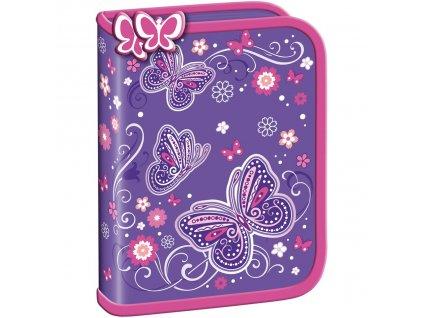 Penál Premium - Butterfly 1 zip prázdný