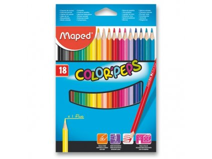 Pastelky Maped Color'Peps - 18 barev