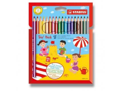 Pastelka Stabilo Trio - 18 barev