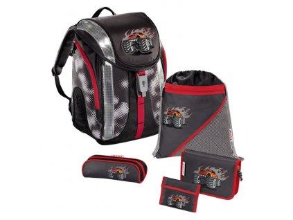 Školní batoh - 5-dílný set, Flexline Truck, certifikát AGR  + zdravá lahev zdarma