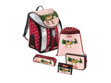 Školní batoh pro prvňáčky - 5-dílný set, Flexline Srneček, certifikát AGR