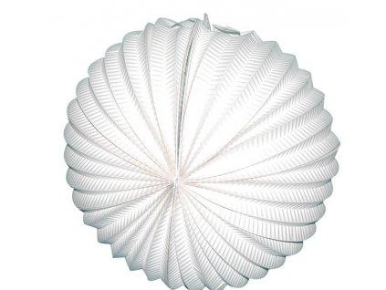 Lampion papírový bílý