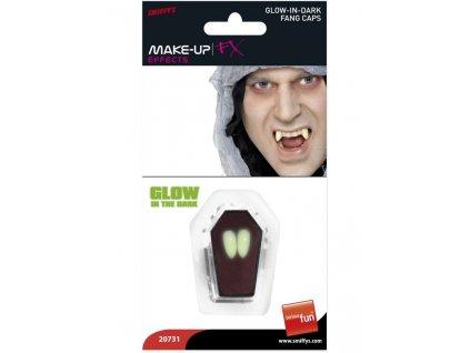 Upíří zuby - tesáky svítící ve tmě