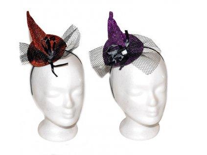 Karnevalový čarodějnický  klobouk - čelenka