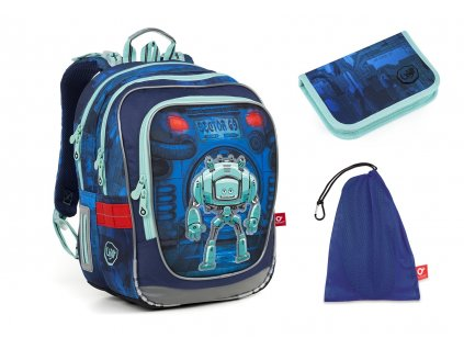 Školní batoh pro prvňáčky Topgal - SET MEDIUM -  ENDY 18047