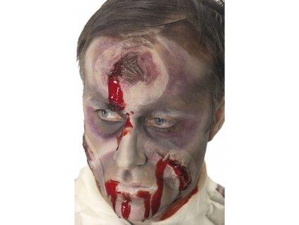 Jizva na hlavě s krví