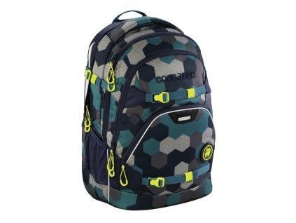 Školní batoh Coocazoo ScaleRale, Blue Geometri, certifikát AGR  + sluchátka zdarma