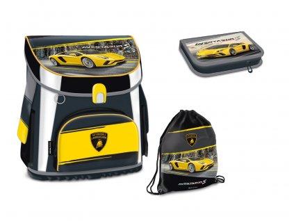 Školní aktovka pro prvňáčky set 3 díly Ars Una - Lamborghini 18 magnetic