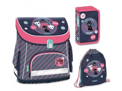 Školní aktovka pro prvňáčky Ars Una set  - Think Pink magnetic 18