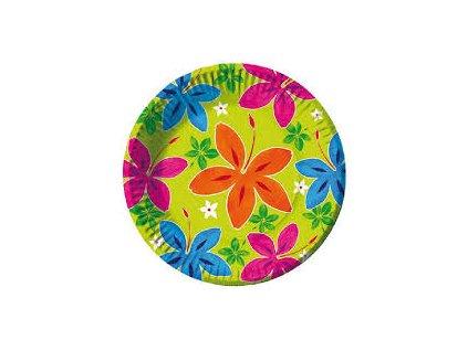 Párty talířky kytičky