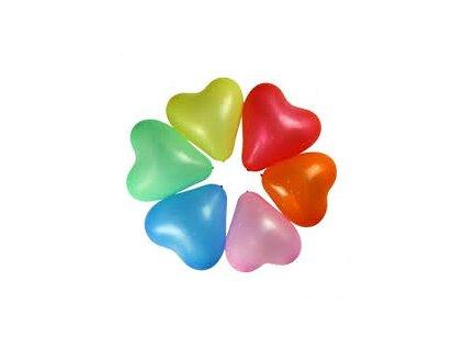 Balonky srdce - sada 5 ks
