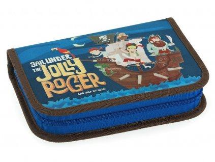 Školní aktovka pro prvňáčky set Ars Una - Pirát Jolly Roger magnetic