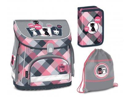 Školní aktovka pro prvňáčky set Ars Una - Think Pink magnetic