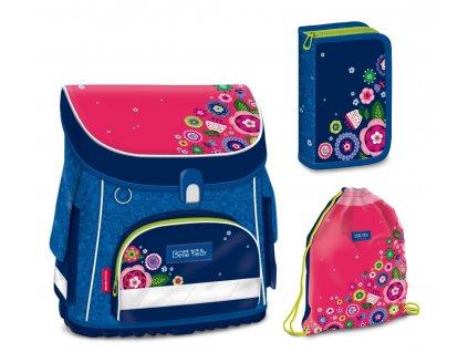 Školní aktovka pro prvňáčky set 3v1 Ars Una - La belle fleur magnetic