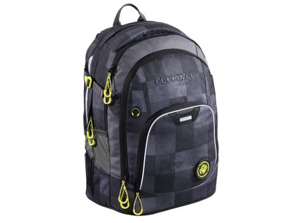 Školní batoh Coocazoo RayDay, Mamor Check  + Trojhranné pastelky 12 barev - ZDARMA