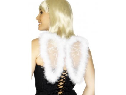 Křídla s chmýřím - bílá 25x20 cm
