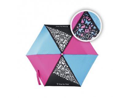 Dětský skládací deštník, černá/ červená/ modrá