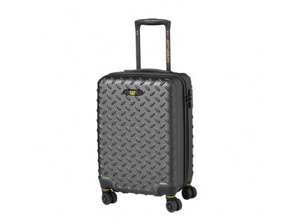 Cestovní kufr - CAT trolley Industrial Plate, 59 l, kovová šedá